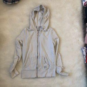 Victoria pink line zip up hoodie